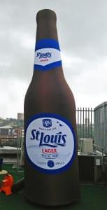 Beer bottle inflatable