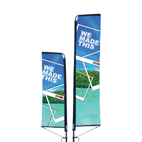 Feather Banners with Unique Tension Arm