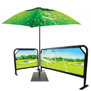 Branded Umbrellas and Barriers