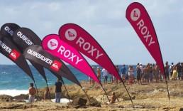 Teardrop Banners-Quiksilver-Roxy
