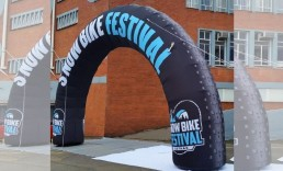 Custom-Inflatable-Arch Snow Bike Festival