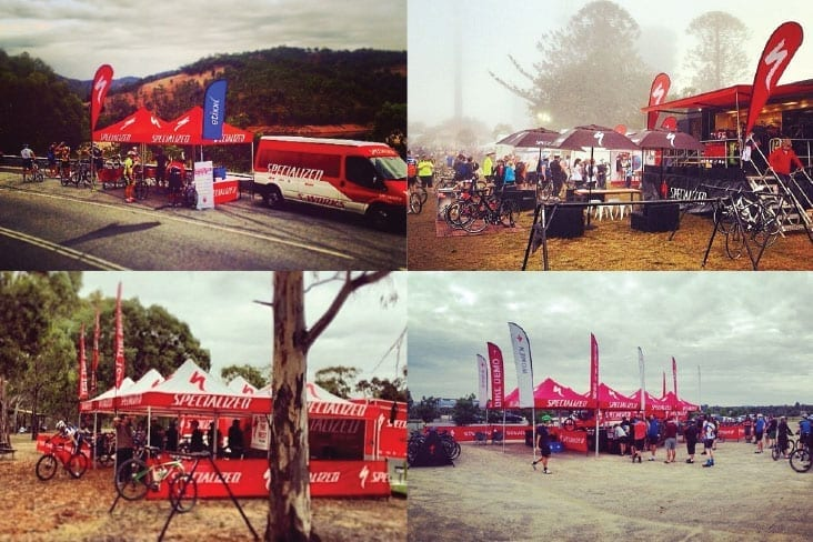 Specialized event branding