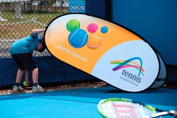 A Frame Banners Tennis Australia