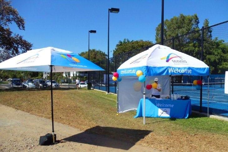 Printed Market Umbrellas Tennis Australia
