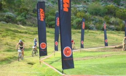 Feather Banners Mountain Biking