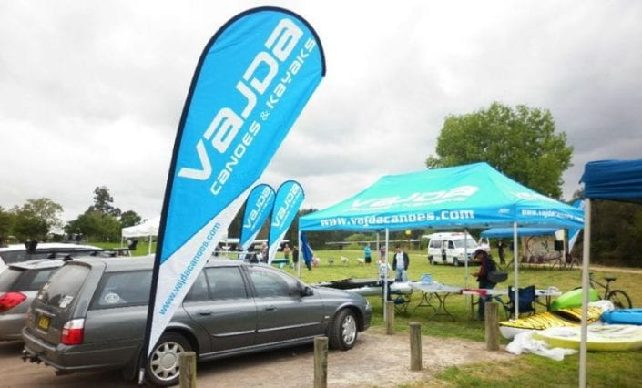 Teardrop Banners and printed marquee