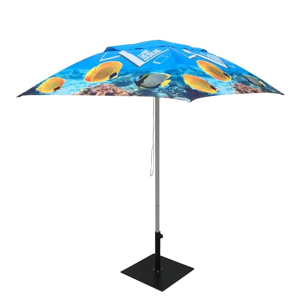 Printed Market Umbrellas Unique Curved Or Standard Shape