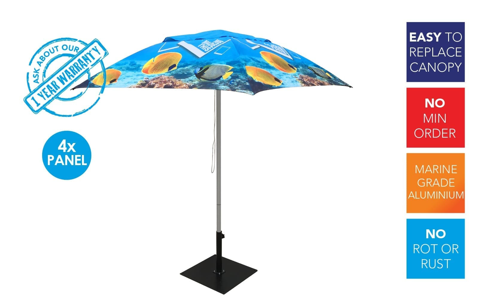ExpandaBrand Printed Market Umbrellas Sydney