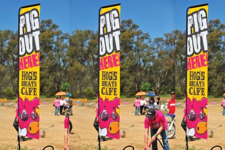 Feather Banners Hogs Pig Out