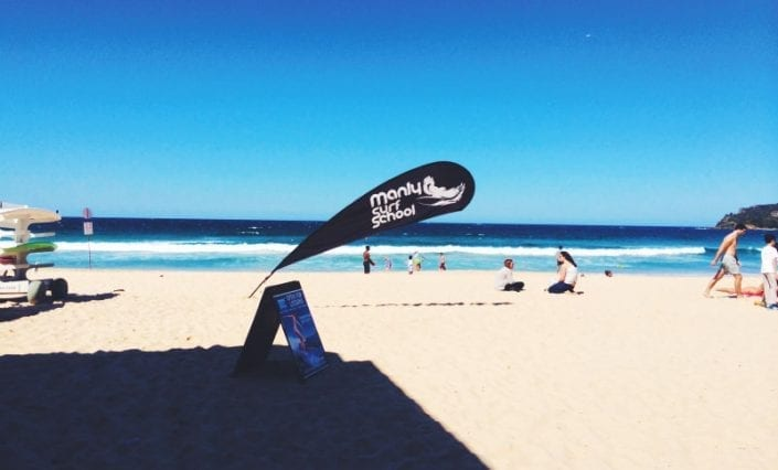 Teardrop-Banners - Manly Surf School