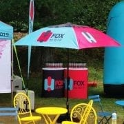 Brand activation-for-Hit-FM_Event-Umbrellas-and-tables